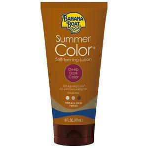 Banana Boat Sunless Summer Color Self Tanning Lotion, Deep Dark, Deep Dark