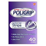 Super PoliGrip Denture Adhesive, Comfort Seal Strips- 40 ea