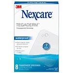 Nexcare Tegaderm Waterproof Transparent Dressing- 8 ea