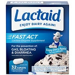 Lactaid Fast Act Lactase Enzyme Supplement, Caplets, Vanilla