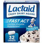 Lactaid Fast Act Lactase Enzyme Supplement, Caplets, Vanilla
