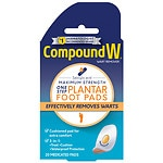 Compound W One Step Plantar Pads, Wart Remover- 20 ea