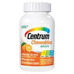 Centrum Chewables Multivitamin/Multimineral Supplement, Tablets, Orange