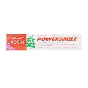 JASON Powersmile, All-Natural Whitening Toothpaste, Peppermint- 6 oz