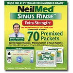 NeilMed Sinus Rinse Premixed Packets, Extra Strength- 70 ea