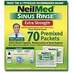 NeilMed Sinus Rinse Premixed Packets, Extra Strength- 70 ea