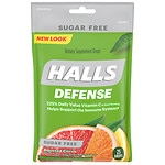Halls Defense Sugar Free Vitamin C Drops, Assorted Citrus