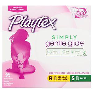 Playtex Gentle Glide 360 Plastic Tampons Multi-Pack, Fresh Scent, 18 Regular & 18 Super