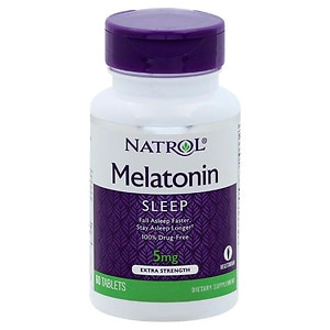 Natrol Melatonin, 5mg, Extra Strength, Tablets