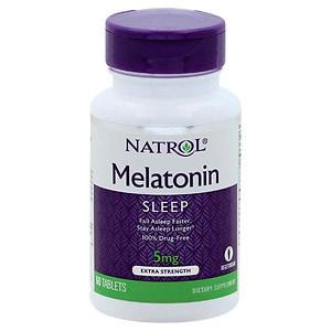 Natrol Melatonin, 5mg, Extra Strength, Tablets