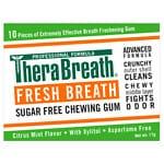 TheraBreath Fresh Breath Xylitol Chewing Gum, Icy Fresh- 12 ea