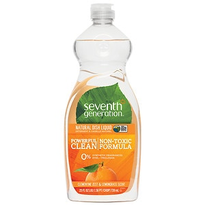 Seventh Generation Natural Dish Liquid, Lemongrass and Clementine Zest