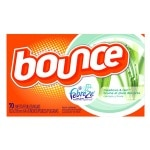 Bounce Fabric Softener Dryer Sheets with Febreze, Meadows & Rain- 70 ea