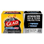 Glad ForceFlex Extra Strong Drawstring Large Trash Bags, 30