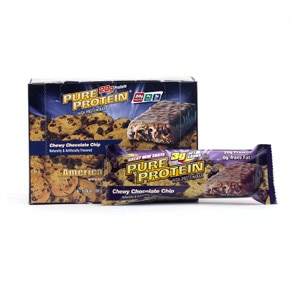 Pure Protein High Protein Snack Bar, 6 pk, Chewy Chocolate Chip