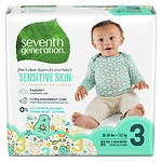 Seventh Generation Baby Free & Clear Diapers, Stage 3, 16-28 lbs,