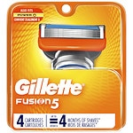 Gillette Fusion Power Razor, Refill Cartridges- 4 ea