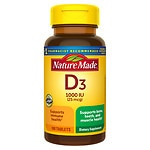 Nature Made Vitamin D3, 1000 IU, Tablets- 100 ea
