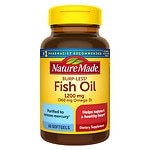 Nature Made Burp-Less Fish Oil, 1200mg, Liquid Softgels