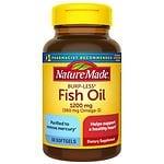 Nature Made Burp-Less Fish Oil, 1200mg, Liquid Softgels- 60 ea