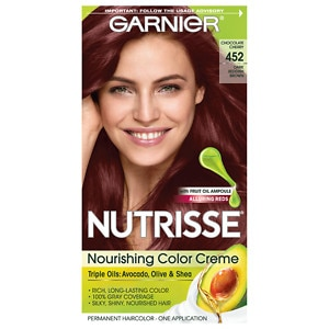 Garnier Nutrisse Permanent Haircolor, Dark Reddish Brown (Chocolate Cherry)