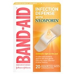 Band-Aid Plus Antibiotic Adhesive Bandages, Assorted Sizes