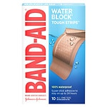 Band-Aid Tough-Strips Waterproof Bandages, Extra Large- 10 ea