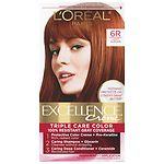 L'Oreal Paris Excellence Creme Haircolor, Light Auburn 6R