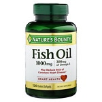 Nature's Bounty Odorless Fish Oil, 1000mg Omega-3, Softgels