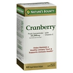 Nature's Bounty Triple Strength Natural Cranberry Softgels- 60 ea