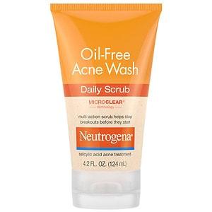 Neutrogena Oil Free Acne Wash Daily Scrub- 4.2 fl oz