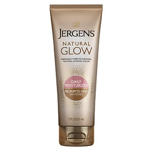 Jergens Natural Glow Revitalizing Daily Moisturizer, Medium/Tan Skin Tone