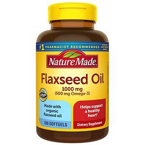 Nature Made Flaxseed Oil, 1000mg, Softgels- 100 ea
