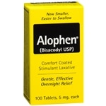 Alophen Enteric Coated Stimulant Laxative- 100 ea