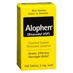 Alophen Enteric Coated Stimulant Laxative- 100 ea