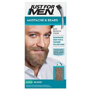 Just For Men Brush-In Color Gel for Mustache & Beard, Blond M-10/15