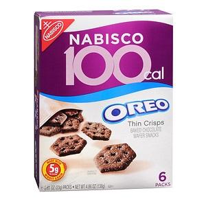 Nabisco 100 Calorie Packs, Oreo Thin Crisps, 6 pk- .81 oz