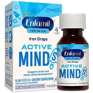 Enfamil Fer-In-Sol Supplement Drops, Iron for Infants & Toddlers- 1.66 fl oz