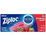 Ziploc Storage Bags, Quart- 25 ea