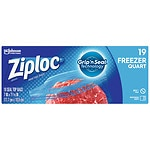Ziploc Freezer Bags, Quart- 19 ea