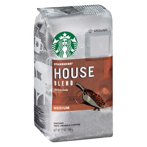 Starbucks Coffee Medium Roast, House Blend, Ground, 12 oz (762111206053)