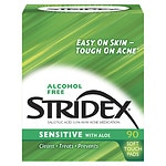 Stridex Daily Care Acne Pads with Salicylic Acid, Sensitive with Aloe
