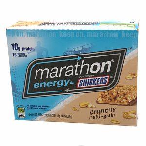 Snickers Marathon Energy Bar, Crunchy Multi-Grain, 12 ea