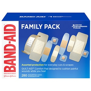 Band-Aid Adhesive Bandages Variety Pack, Assorted Sizes, 280 ea