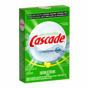 Cascade Dishwasher Detergent with Dawn, Powder, Lemon Scent