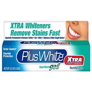 Plus White Toothpaste, Xtra Whitening, Gel, Mint- 3.5 oz