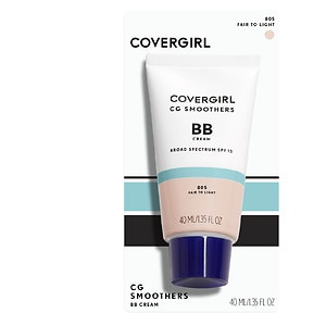 CoverGirl Smoothers BB Cream Tinted Moisturizer + Sunscreen SPF 21, Fair to Light 805