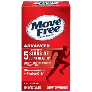 Schiff Move Free Advanced Triple Strength Glucosamine Chondroitin, Coated Tablets- 80 ea