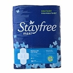 Stayfree Maxi Pads, Regular with Wings