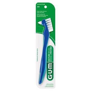G-U-M Denture Brush, Toothbrush, 201RYB- 1 ea